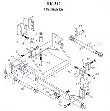 Exploded view model hk 317 three point hitch kit for allis chalmers d17 series iv