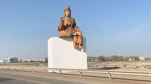 Why is there a giant Buddhist sculpture on Sheikh Zayed Road ...