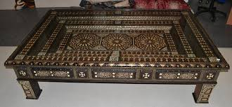 image of moroccan coffee table wood