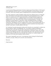 Cover Letter Examples Electrical Engineer