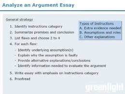 writing the argument essay argumentative paper structure