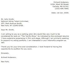 Sample Film Cover Letter Actor Cover Letter Examples Cover Letter Now