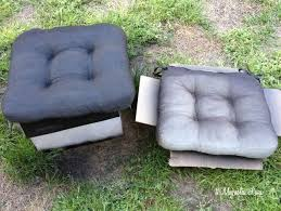 spray paint cushions side by side