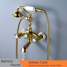 bathtub spout cover plate hot luxury faucets gold brass bathroom faucet mixer tap wall mounted bathroom faucet cover plates