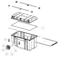 buy dewalt dwst38000 type 0 38 in mobile tough chest replacement dewalt dwst38000 type 0 parts schematic