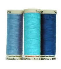 Gutermann Polyester Thread Colour Chart Gutermann Sew All Polyester Thread 110 Yards Blues