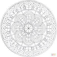 Disegno Di Mandala Con Cerchi Da Colorare Disegni Da Colorare E Avec
