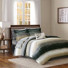 details about beautiful modern chic grey black taupe bed in a bag comforter set king queen