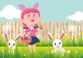 Kid Easter Egg Hunt Vector Background Svg Eps File Free