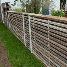 scaffold board fencing or garden screening