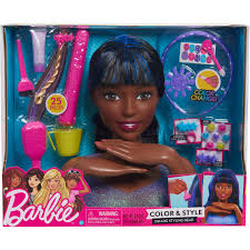 just play barbie color and style deluxe styling head african american