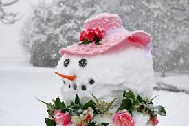 Image result for snowman dressed for spring