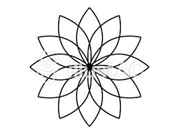 花モチーフ 黒 アイコンイラスト No 378469無料イラストなら