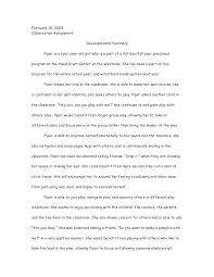 child observation essay co child observation essay