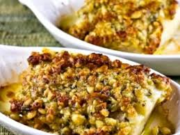 baked white fish with pine nut
