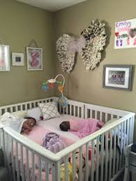 twins nursery furniture. Angel Wings Nursery Wall Decor Over A Baby Crib For Twins Or Multiples. Furniture R