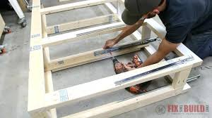king storage bed plans. Diy Bed With Storage Installing Drawers In A Frame King Plans .
