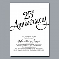 25th wedding anniversary invitation cards luxury wedding invitation 50th wedding anniversary invitations templates of 25th wedding