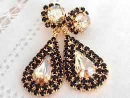 black and gold chandelier earrings il fullxfull 614804197 poft ideas