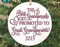 Great Grandparent First Christmas Ornament, Pregnancy Announcement,  Grandparent Gift, Grandmother Ornament, Promoted