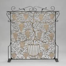 Image Plan Images Judy Frankel Antiques Fireplace Screen Made From French Art Deco Iron Grill Item8395