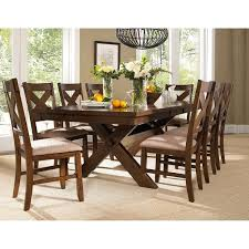 kitchen dining room sets 9 piece solid wood dining set with table and 8 chairs