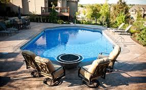 fire pit near pool