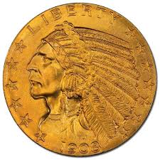 Indian Head Value Chart 5 Indian Head 1908 1916 1929 0 2419 Troy Ounce Gold Content