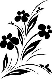 Simple Stencil Designs Simple Flower Designs Black And White Vector Art Jpg Image