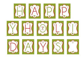 happy holidays banner free. Happy Holidays Printable Banner Throughout Free