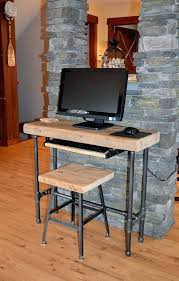 small laptop desk small urban wood laptop computer desk reclaimed by