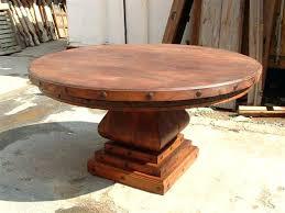 rustic round table rustic round pedestal