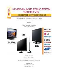 Plasma Vs Lcd Vs Led Comparison Chart Lcd Led Plasma