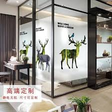 glass door stickers ins window frosted elk translucent opaque for office
