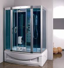 steam shower room with deep whirlpool tub 9004 image 1