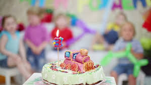 Birthday Cake With Candle Is Stock Footage Video 100 Royalty Free