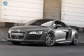 black audi r8 v10. here is a 2011 audi r8 v10 in custom matte black finish featuring set of 20u201d modulare b18 forged monoblock wheels the car was also lowered with