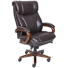leather office chair. Plain Leather La Z Boy Trafford Big U0026 Tall Executive Bonded Leather Office Chair  Vino  Brown Intended