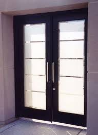 glass doors frosted glass front entry