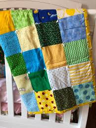 baby quilt patchwork quilt yellow blue