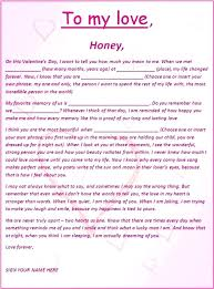 Romantic And Love Letters Free Word Templates Letter Template For