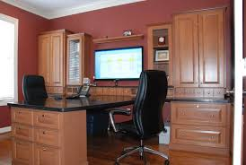 custom home office interior luxury.  Luxury Deluxe Luxury Home Office Ideas With Brown Cabinets And Led Tv Black  Leather Swivel Chairs Table Top Inside Custom Interior E