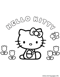 Small Picture hello kitty flowers and butterfly Coloring pages Printable