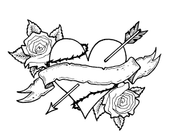 Small Picture Heart coloring pages arrow and roses ColoringStar