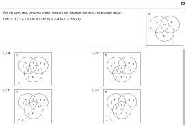 How To Construct A Venn Diagram Solved For The Given Sets Construct A Venn Diagram And P