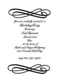 Formal Invitation Wording For Birthday Party 607 57 80 Z - 101 Birthdays