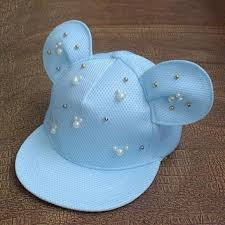 women lovely mickey big ears baseball cap girls cute mouse hip h
