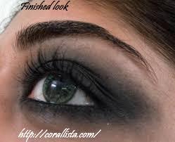 dramatic black smokey eye finished look