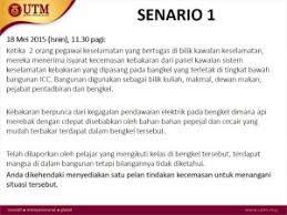 Example Scenario Occupational Safety Health And Environment Unit