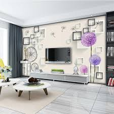 modern minimalist 3d living room tv background wall paper 5d and television wall painting 8d